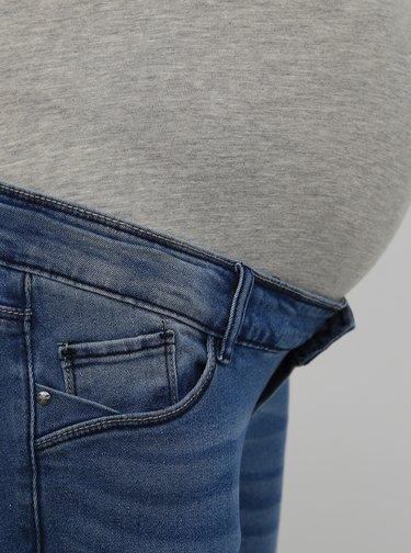 Modré těhotenské slim fit džíny Mama.licious Sarina