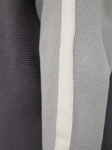 Šedý svetr s lampasem M&Co