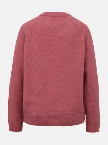 Růžový svetr s příměsí vlny z alpaky Selected Femme Lanna