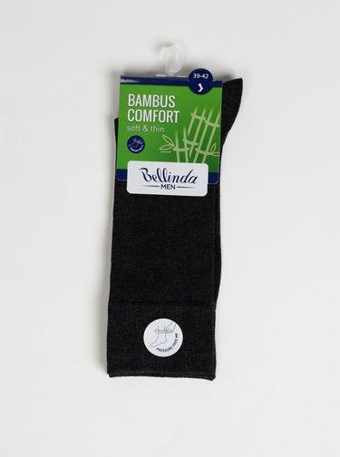 Tmavě šedé pánské ponožky Bellinda Bambus Comfort