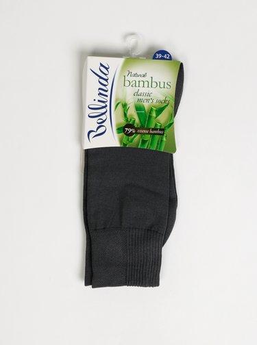 Šedé pánske ponožky Bellinda Bambus