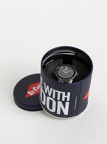 Dámske hodinky s kovovým remienkom v čierno-striebornej farbe Lee Cooper