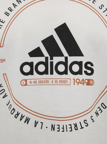 Biele pánske tričko s potlačou adidas Performance