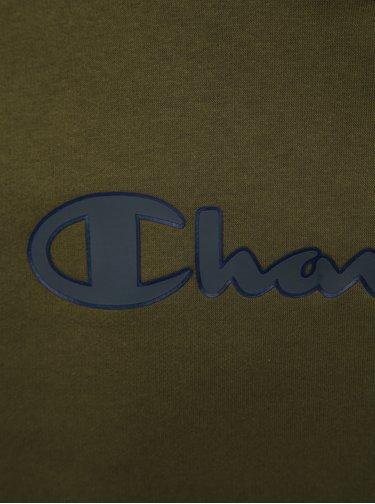 Khaki pánská mikina s potiskem Champion