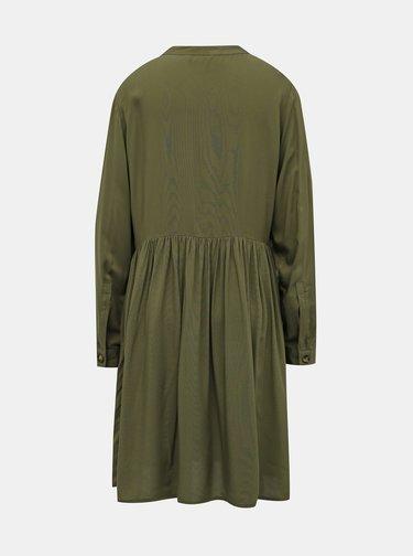 Khaki košilové šaty ONLY Tallulah