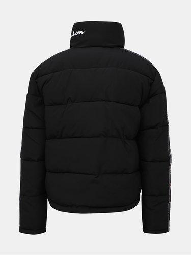Čierna dámska prešívaná zimná bunda s pásom Champion