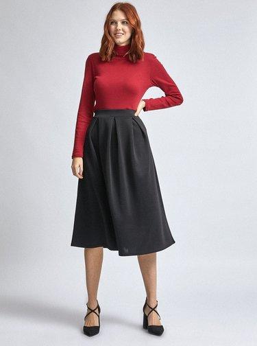 Čierna midi sukňa Dorothy Perkins