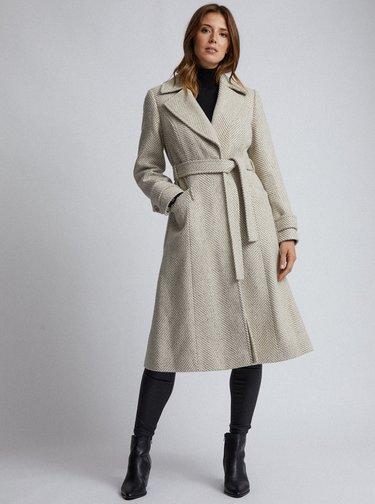Béžový vzorovaný kabát Dorothy Perkins