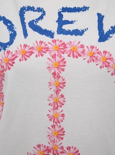 Bílé tričko s potiskem Pompea Daisy