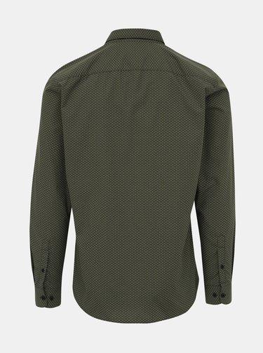 Khaki vzorovaná slim fit košile ONLY & SONS Sane