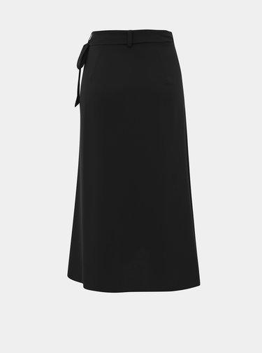 Černá zavinovací sukně Selected Femme Jade