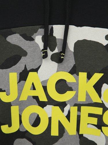 Čierna mikina s potlačou Jack & Jones Ludo
