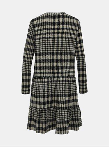 Čierno-béžové vzorované svetrové šaty Jacqueline de Yong Brienne