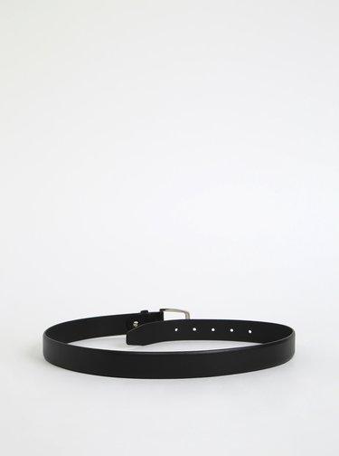 Černý pánský kožený pásek OJJU