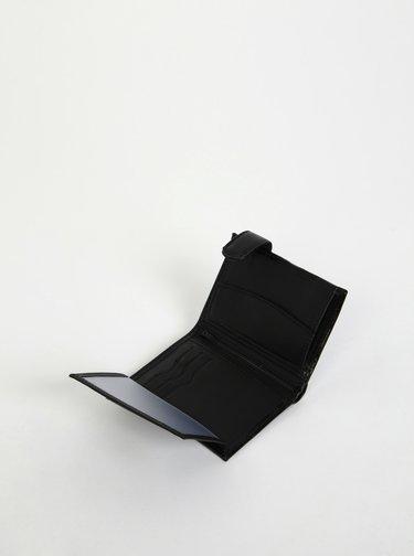Čierna pánska kožená peňaženka OJJU