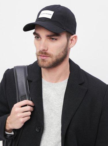 Čierna šiltovka s koženou nášivkou Calvin Klein Jeans