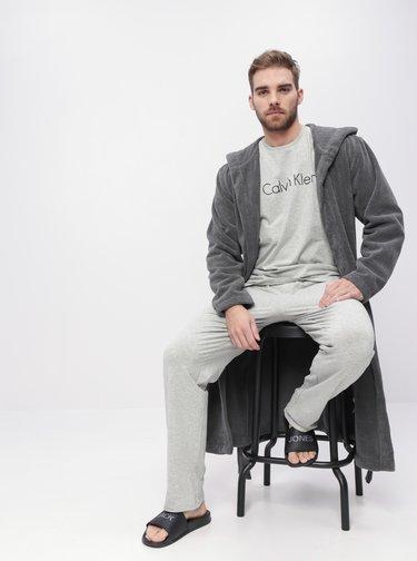 Světle šedé pánské pyžamové kalhoty Calvin Klein Underwear