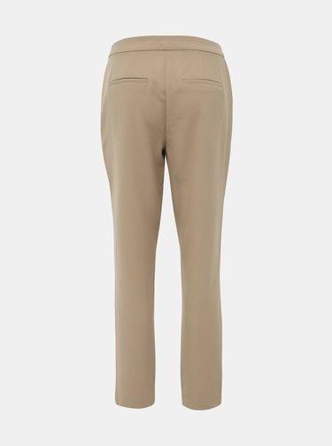 Béžové zkrácené kalhoty VERO MODA Tia Maya