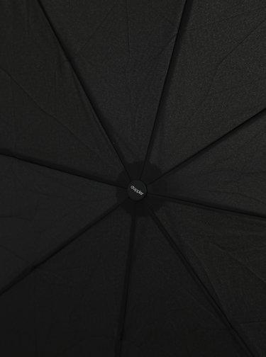 Čierny skladací vystrelovací dáždnik Doppler