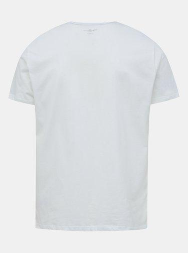 Bílé pánské tričko s potiskem Pepe Jeans Eggo