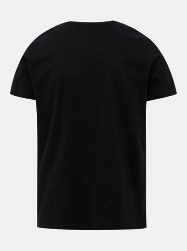 Černé pánské tričko s potiskem Pepe Jeans Eggo