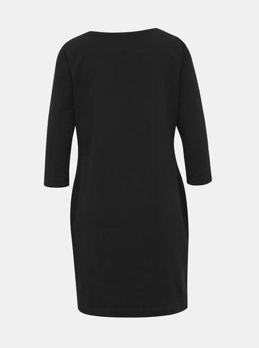 Černé mikinové basic šaty ZOOT LOLA