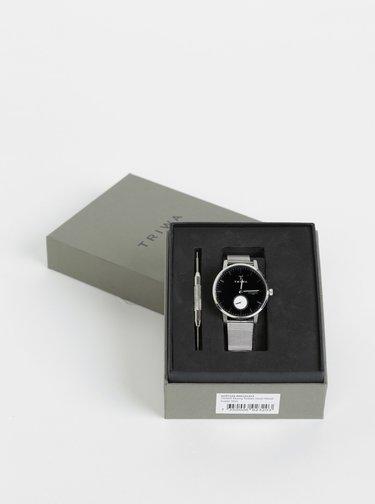 Dámské hodinky s nerezovým páskem ve stříbrné barvě TRIWA Svalan