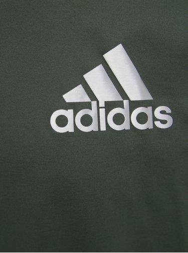 Tmavě zelené pánské tričko s potiskem adidas Performance