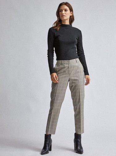 Béžové kockované skrátené nohavice Dorothy Perkins