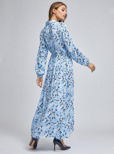 Světle modré květované košilové maxišaty Dorothy Perkins Petite