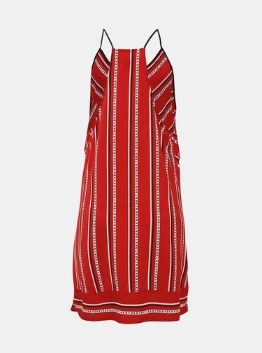 Červená pruhovaná noční košile DKNY
