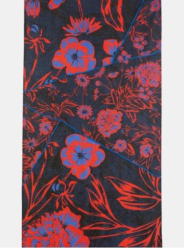 Červeno-modrý květovaný šátek Desigual