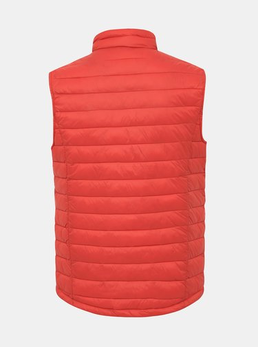 Červená pánská voděodpudivá prošívaná vesta Tom Tailor