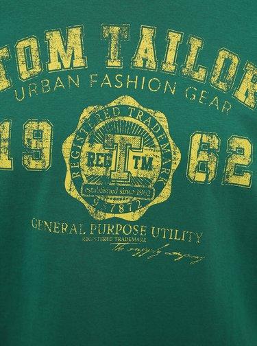 Zelené pánské tričko s potiskem Tom Tailor