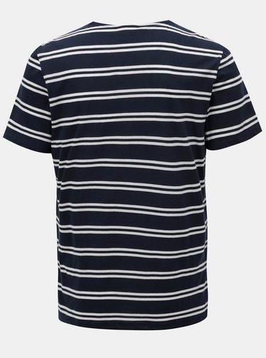 Tmavě modré pruhované tričko Casual Friday by Blend