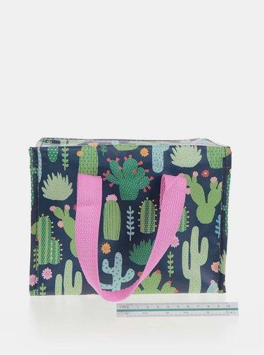 Geanta termoizolanta cu imprimeu cactusi - Sass & Belle