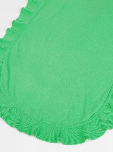 Zelená dámská šála s volánem Blue Seven