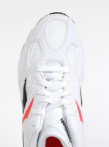 Biele dámske tenisky s detailmi v semišovej úprave Reebok Aztrek 96