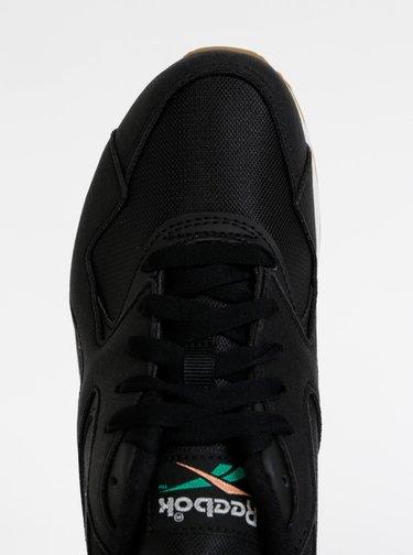 Černé dámské tenisky s detaily v semišové úpravě Reebok Hex
