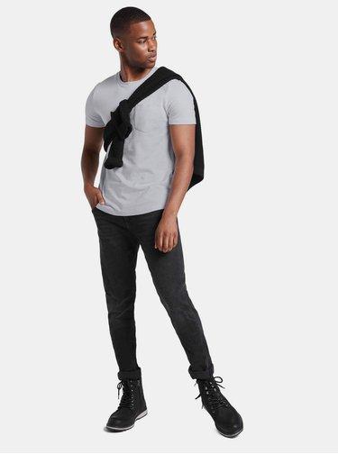 Svetlošedé pánske vzorované tričko Tom Tailor Denim