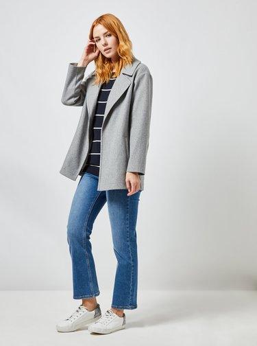 Šedý krátky kabát Dorothy Perkins