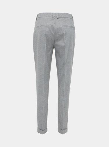 Světle šedé vzorované kalhoty Selected Femme Luna