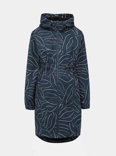 Tmavě modrý vzorovaný těhotenský kabát s vsadkou Mama.licious Shella