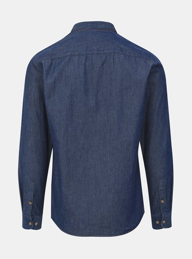 Tmavě modrá džínová slim fit košile ONLY & SONS Sask