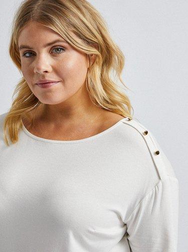 Krémové tričko Dorothy Perkins Curve