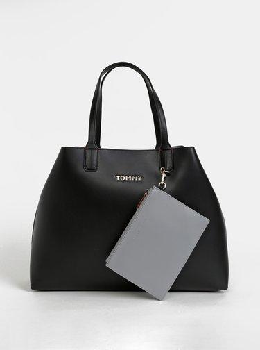 Černý shopper s odnímatelným pouzdrem 2v1 Tommy Hilfiger