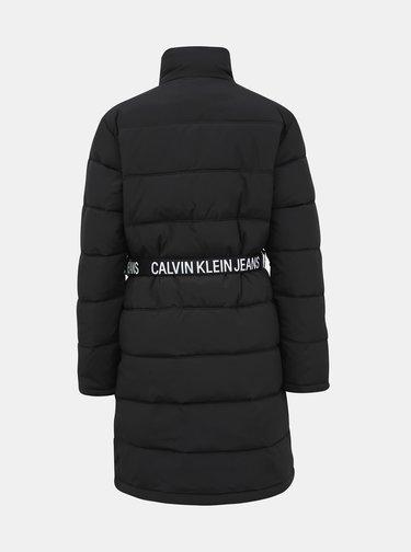 Čierny dámsky zimný kabát Calvin Klein Jeans