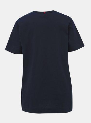 Tmavomodré dámske tričko Tommy Hilfiger