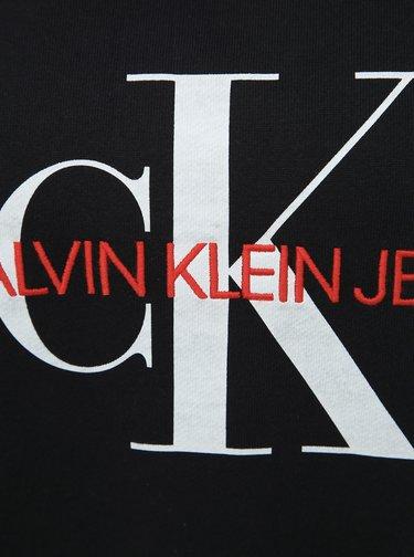 Čierna dámska oversize mikina Calvin Klein Jeans Monogram