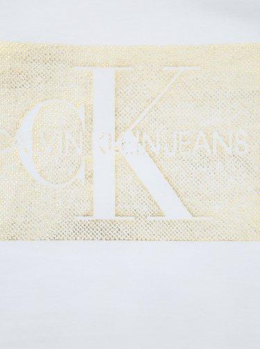 Biele tričko s potlačou Calvin Klein Jeans Monogram